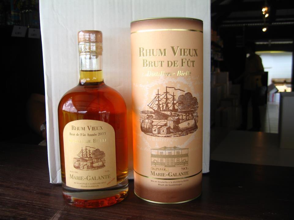 Rhum Vieux Brut de Fut. Bielle-Marie Galante.