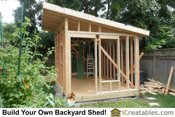 Here is a plan for building your own modern shed simple for Building a shed style roof