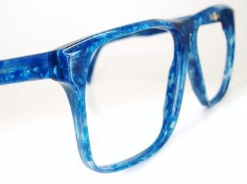 Vintage Tura 1970s Blue Pearlized Marble Eyeglasses  Frame  NOS by Vintage50sEyewear for $84.00