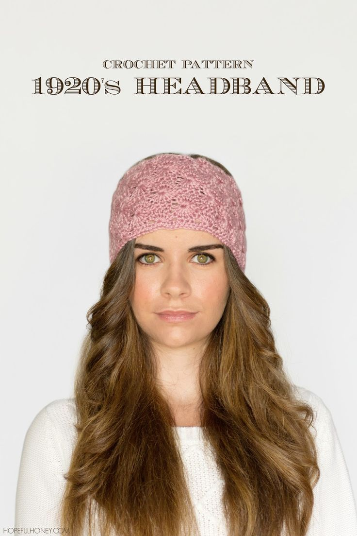 1920\'s Lace Headband Crochet Pattern | Lace headbands, Free crochet ...