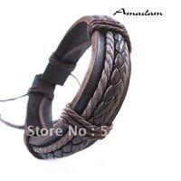 Sl098 / PU pulseira de couro de alta qualidade casual amantes da malha malha pulseira moda jóias por atacado preço de fábrica