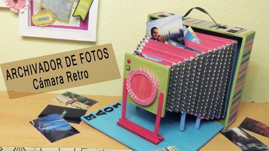 Toma nota de los materiales que necesitas y los pasos que debes seguir para elaborar este archivador en forma de cámara retro.