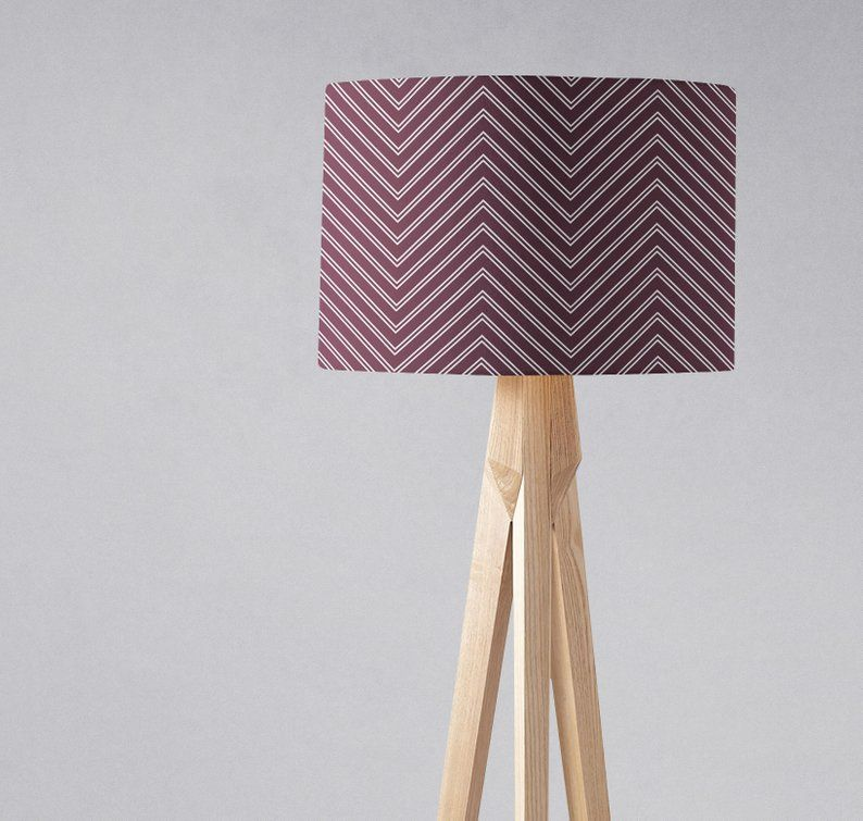 Purple Lampshade Chevron Lamp Shade Plum Light Shade Purple