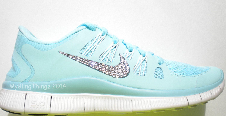 3107f4447d86 ... nike free 5.0 met glitter Tiffany Blue ...
