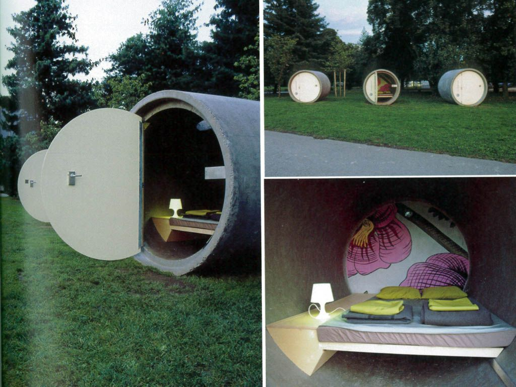 The ultimate re-purposing...storm drain to chic clamping pod.