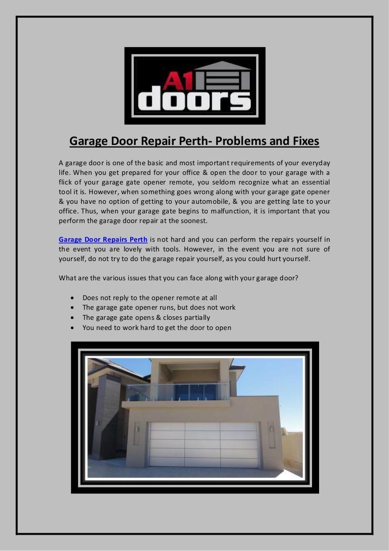 Charming Garage Door Repair Perth  Problems And Fixes · · A1 Door Garage Repair  Company In Perth Offers #garage #door #repair #services.