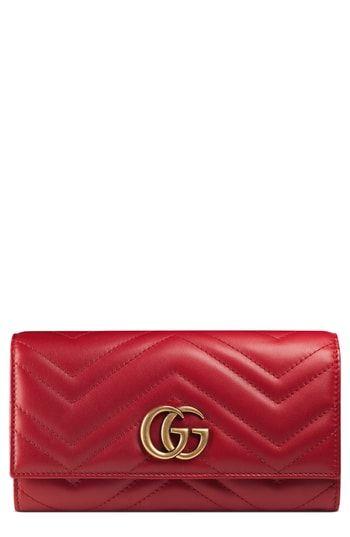 Gucci GG Marmont Matelassé Leather Continental Wallet