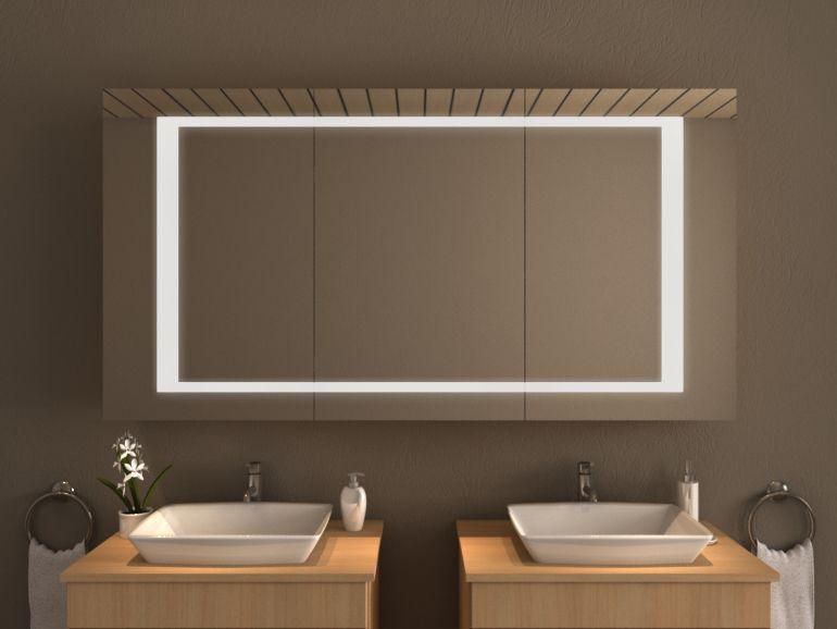 Spiegelschrank für das Bad mit LED - EL PASO Spiegel Pinterest - spiegelschrank badezimmer günstig