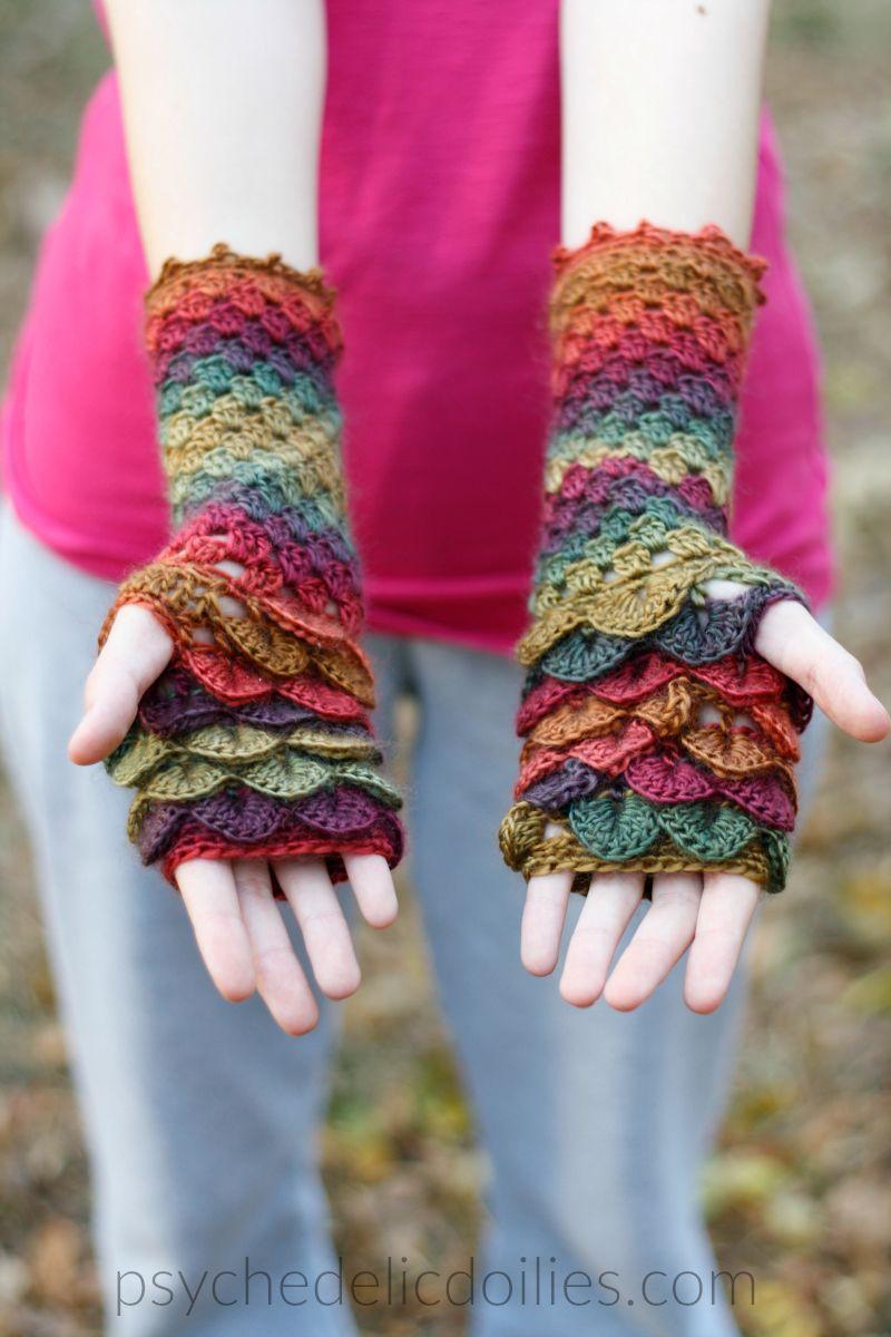 Dragon Scale Ear Warmers Free Crochet Pattern Traci Crochet