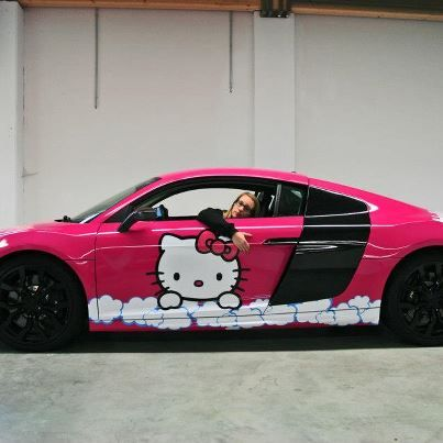 Hello Kitty Would You Drive This Car Hello Kitty Car Pink Hello Kitty Hello Kitty Items