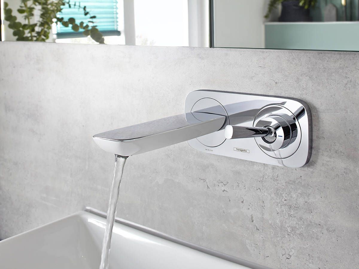 Hansgrohe Pura Vida Wasserhahn Wall Mounted Hansgrohe Pura Vida Bathroom Faucet With Cement