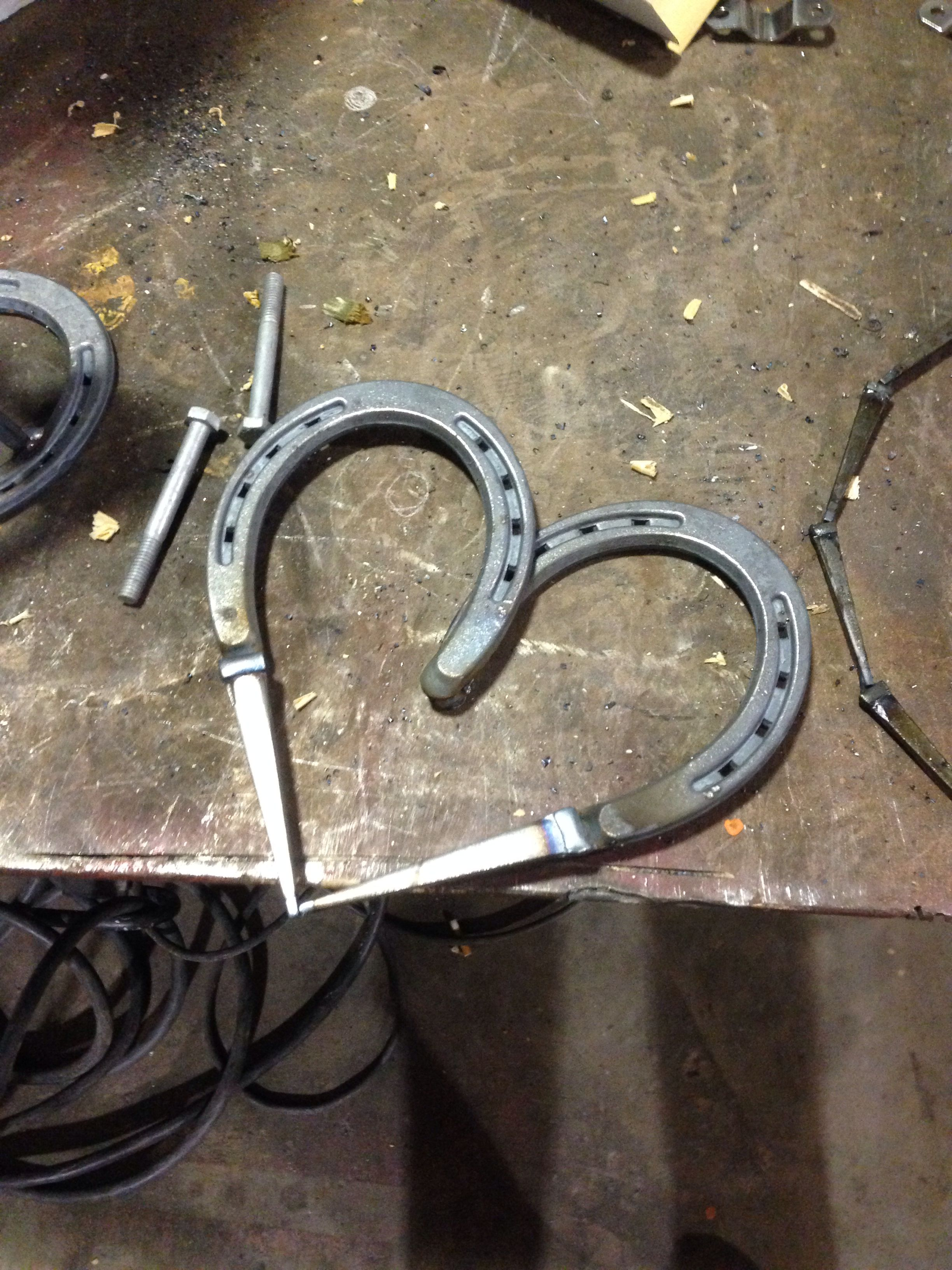 Horse Shoe And Masonry Nail Heart Welding Art Projects