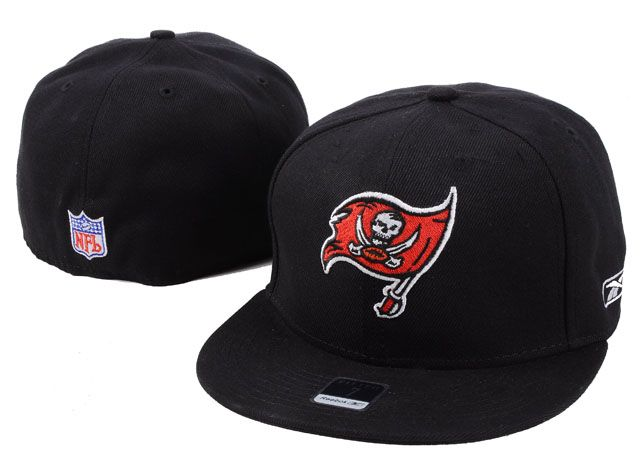 a90cb69551c035 Reebok NFL Tampa Bay Buccaneers Black Fitted hat | NFL Tampa Bay ...