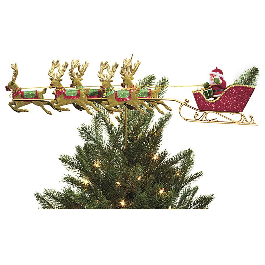 Christmas Tree Toppers Santa: Xmas Tree, Winter Christmas