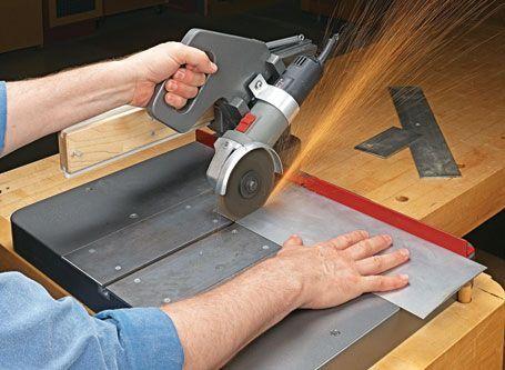 sliding cutoff grinder woodsmith plans metal shop. Black Bedroom Furniture Sets. Home Design Ideas