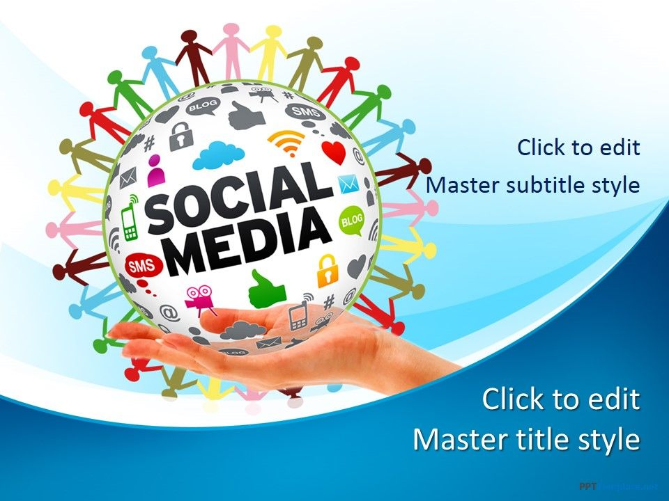 free social media network ppt template for microsoft powerpoint 2016