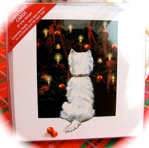 10 Westie Christmas Cards Christmas by BabyDChristmasMarket, $6.50 ...