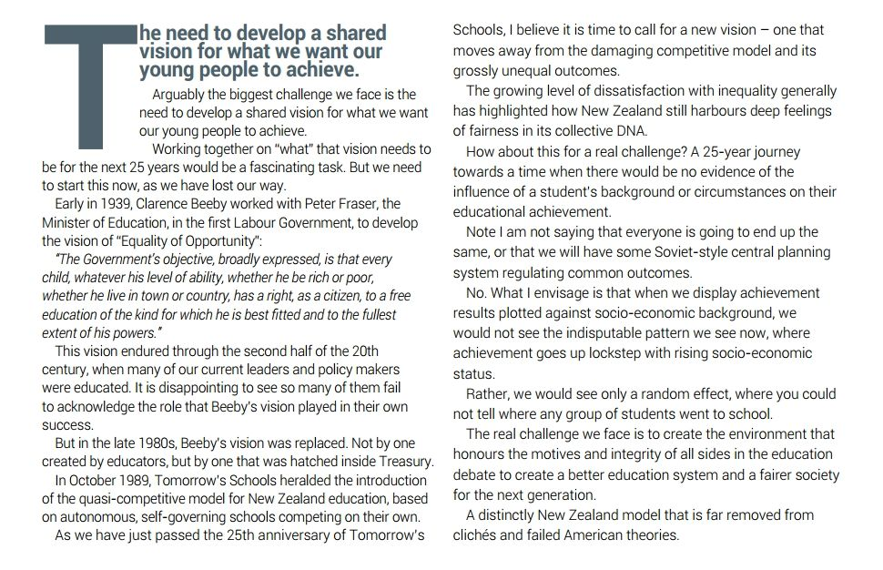 A new, shared vision for NZ education, by Bill Courtney