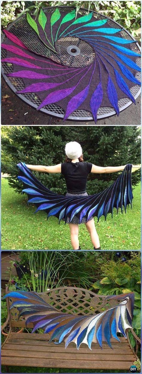 Knit Dreambird Shawl Pattern - Knit Scarf & Wrap Shawl Patterns ...