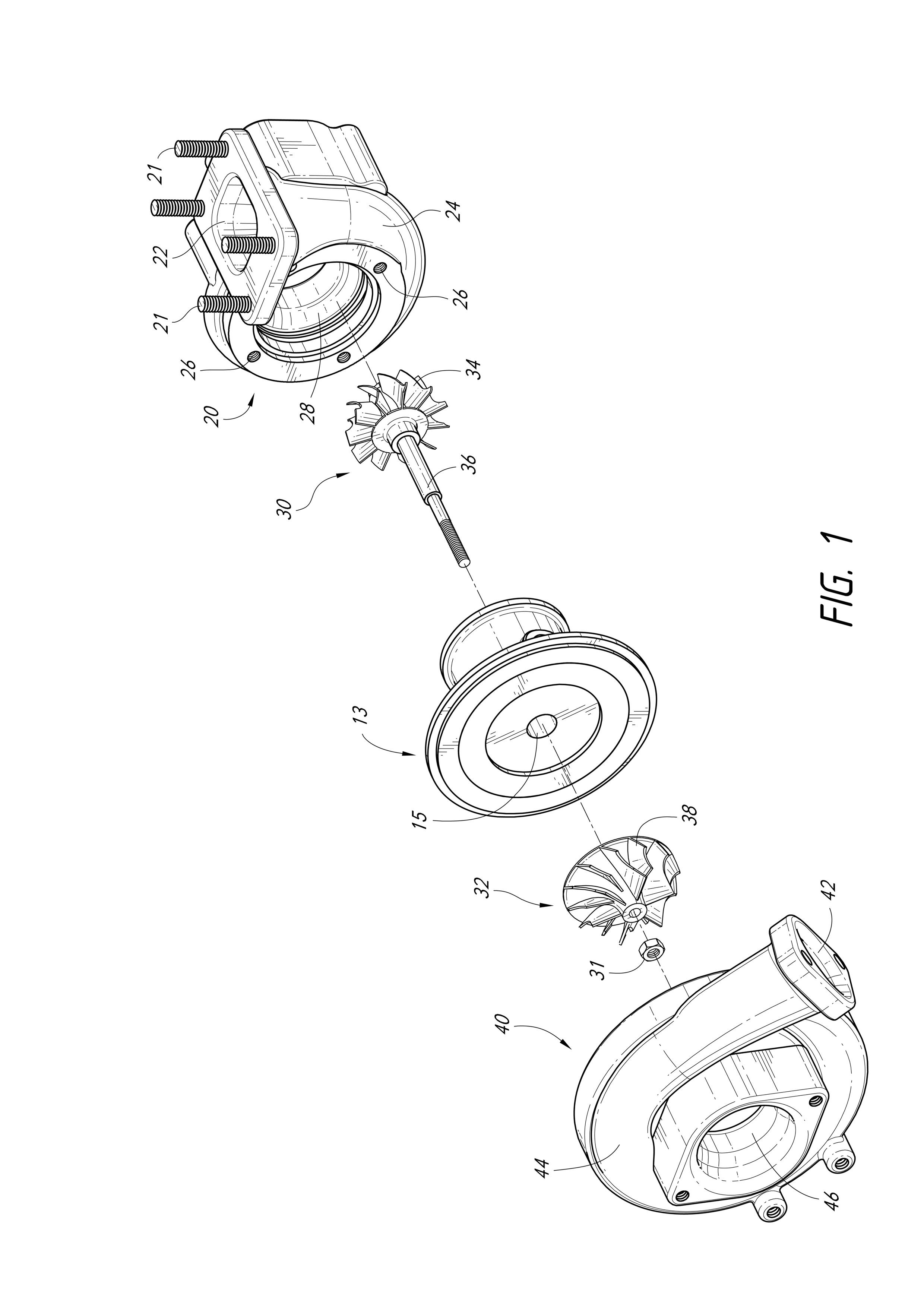 small resolution of exploded view of a turbo charger