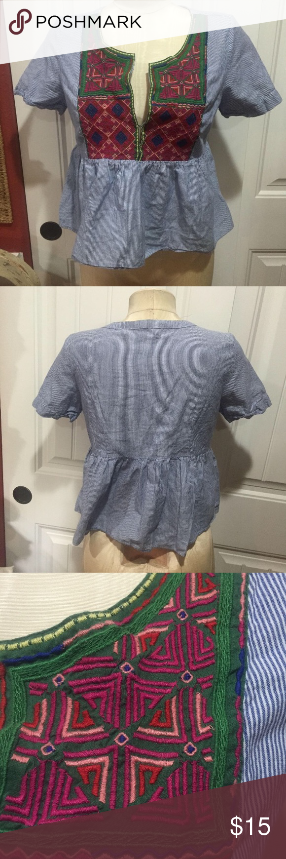 American Eagle cute top size M could fit small American Eagle cute top size M could fit small also American Eagle Outfitters Tops Blouses