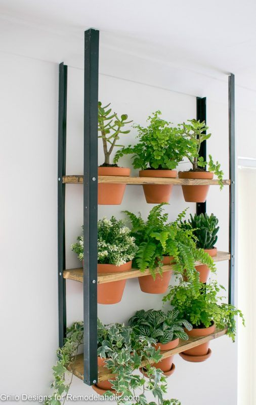Love This Ikea Hacked Industrial Wall Planter Great Idea