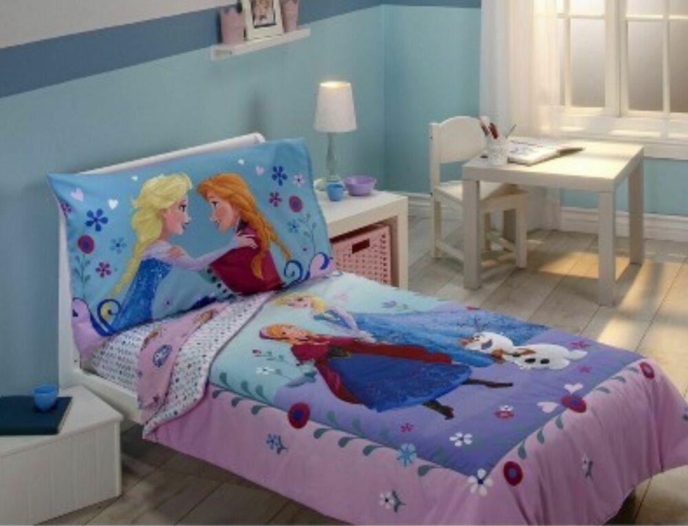 Disney Frozen Toddler Bed Set Elsa Ana Quilt Sheets Girls