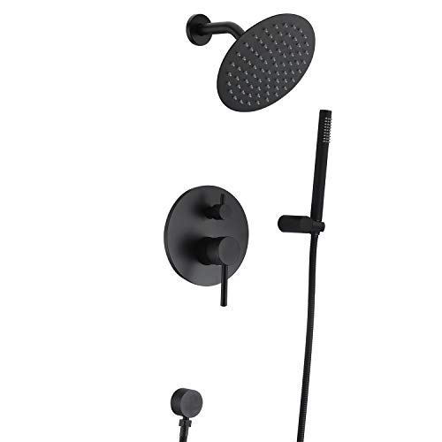 Black Shower Fixtures Matte Black Shower Faucet Set Black Shower System With Rain Shower And Handheld Sumerain Shower Faucet Sets Black Shower Shower Faucet