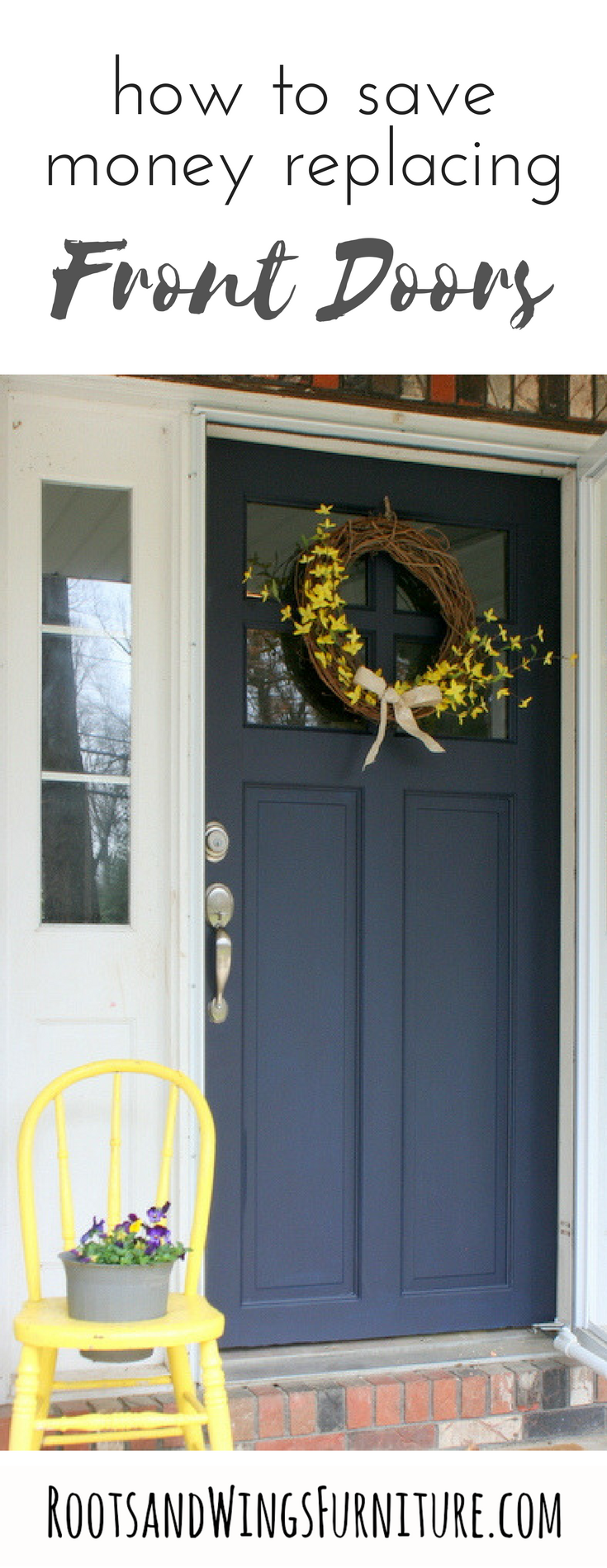 Front Door Makeover With General Finishes Milk Paint Painted