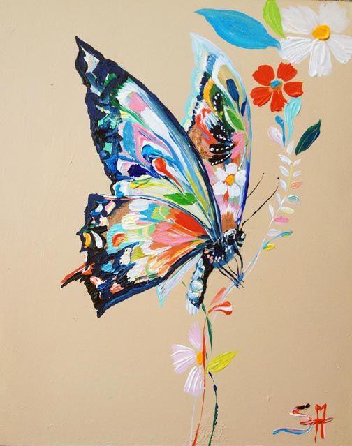 Kelebek 2 Kelebekler Soyut Tuval Resimleri