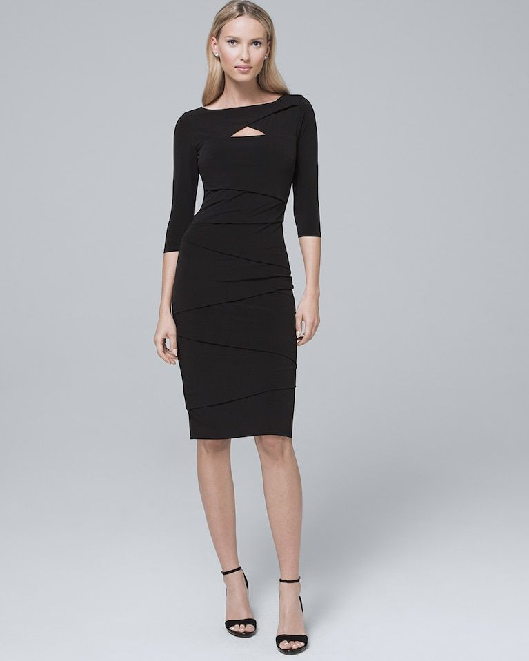c211917e Women's Cutout-Detail Black Instantly Slimming Sheath Dress by White House  Black Market