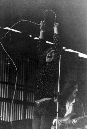 Robert Plant and John Paul Jones of Led Zeppelin