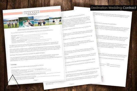 Destination Wedding Photography Contract Photography
