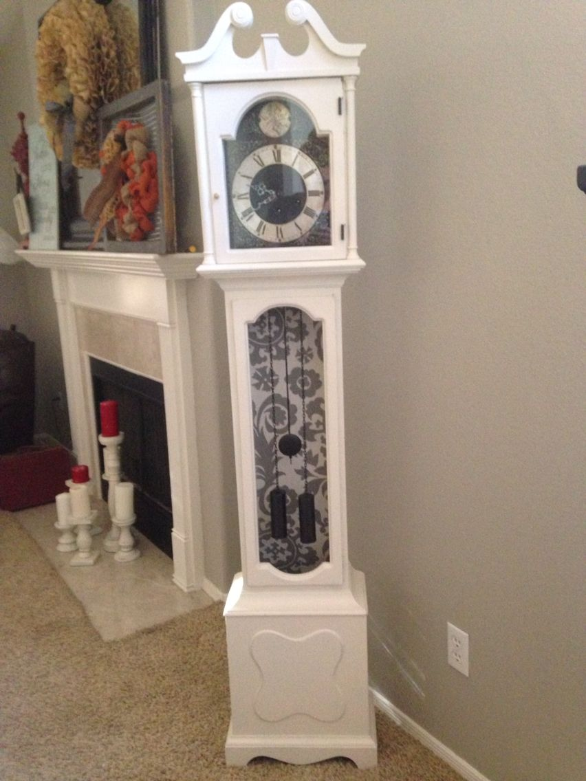 Grandfather Clock Painted In Age Old White