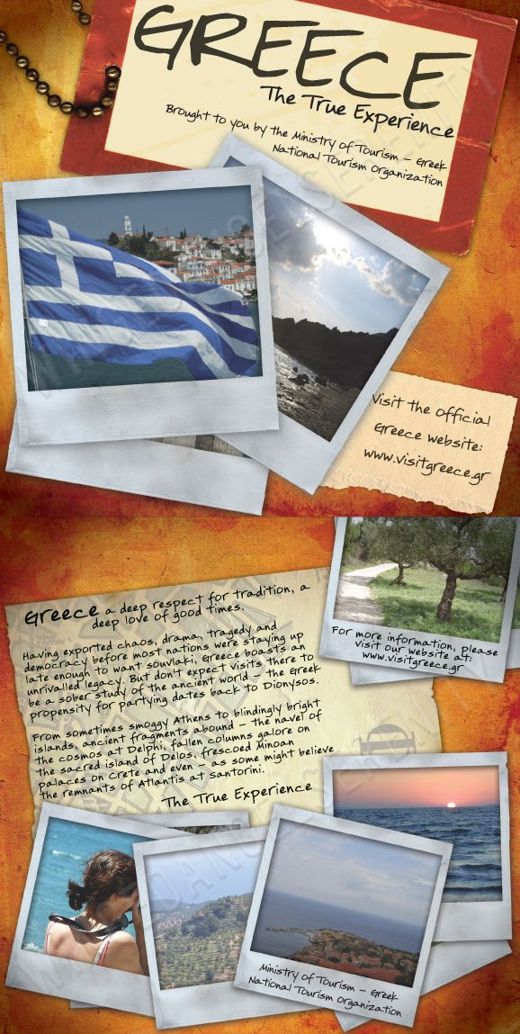 Travel Brochure  Greece By Wingedangelserenity  France Project