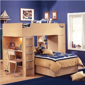 Maple Bunk Beds With Built In Desk Storage Kid Stuff Pinterest