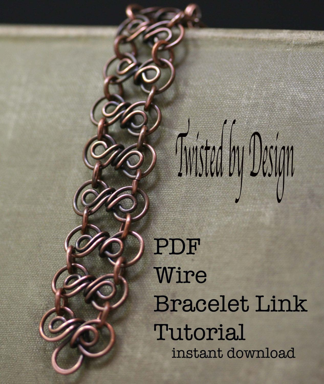 PDF Tutorial Wire Links,Links Tutorials,3 links tutorial,Jewelry ...