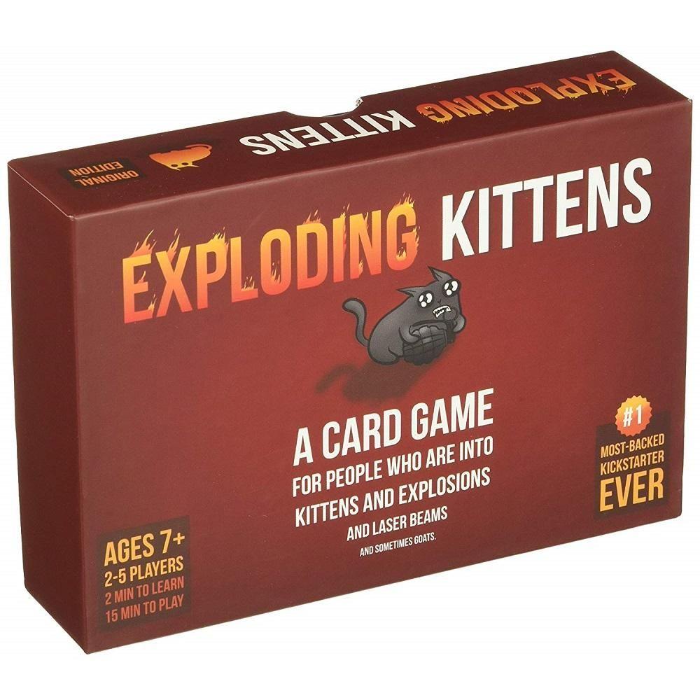 Exploding Kittens Original Edition Exploding Kittens Exploding Kittens Card Game Birthday Gifts For Teens