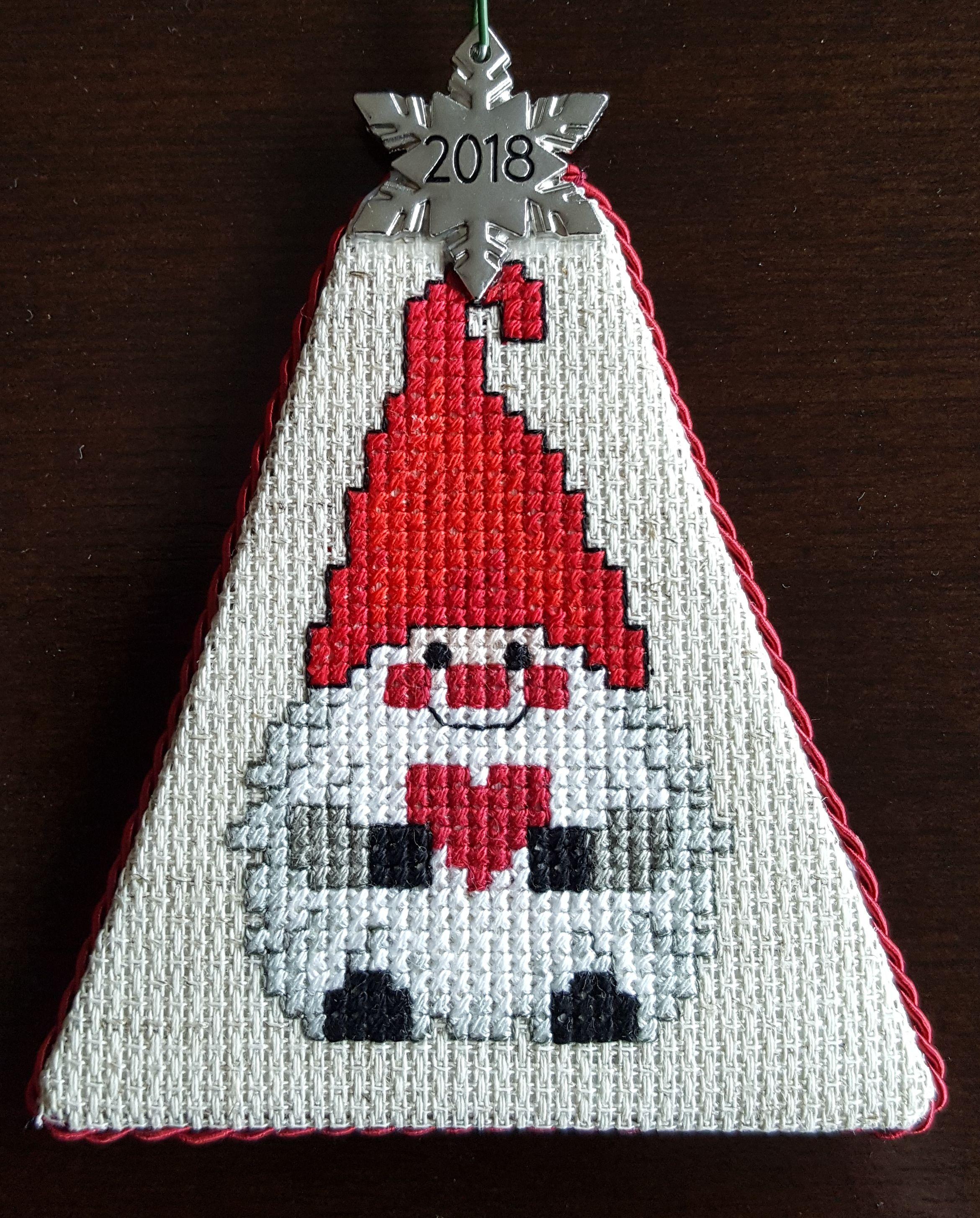 Cross Stitch Christmas Ornament Nordic Gnome Cross Stitch Christmas Ornaments Christmas Cross Stitch Needlework Christmas