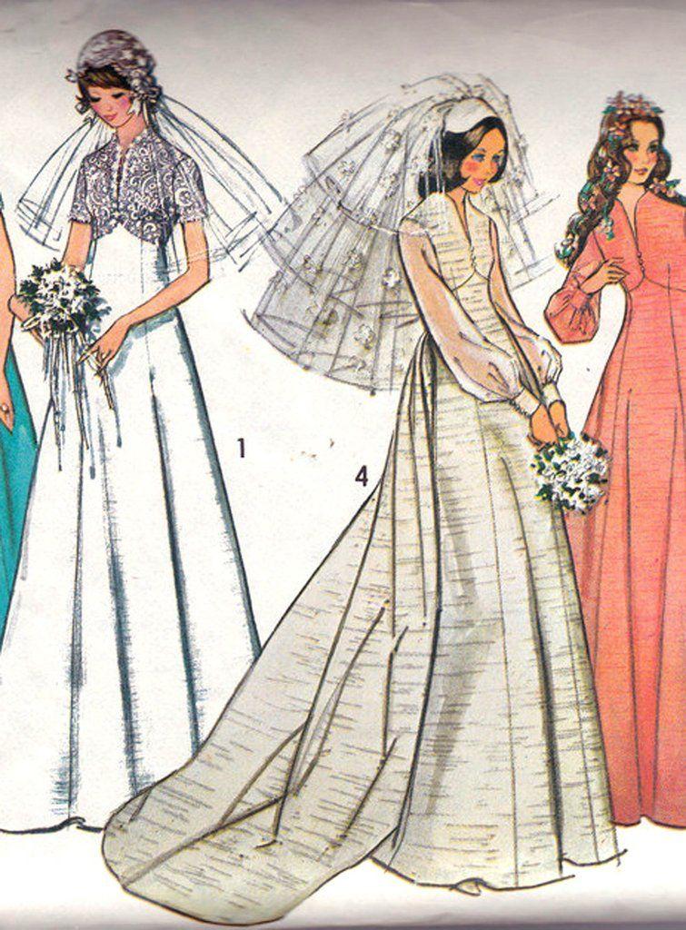 Simplicity 6160 Boho Wedding Dress Bridal Gown Bridesmaids Dress ...