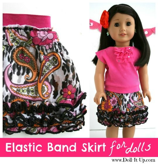 Sewing- An Elastic Band Skirt for Dolls and a Few Tip on Sewing for Dolls | Doll It Up