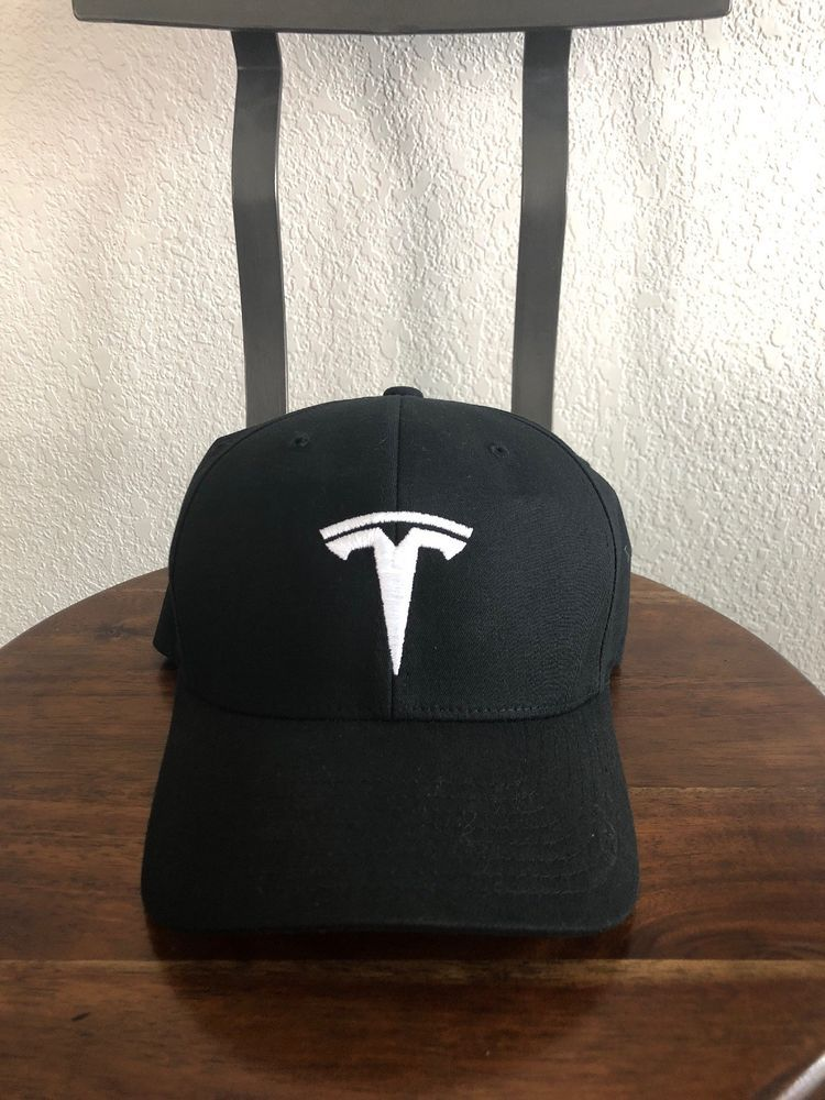 Brand New Authentic Black Tesla Flexcap Hat Large- Xtra Large  fashion   clothing  shoes  accessories  mensaccessories  hats  ad (ebay link) 11461ab642f