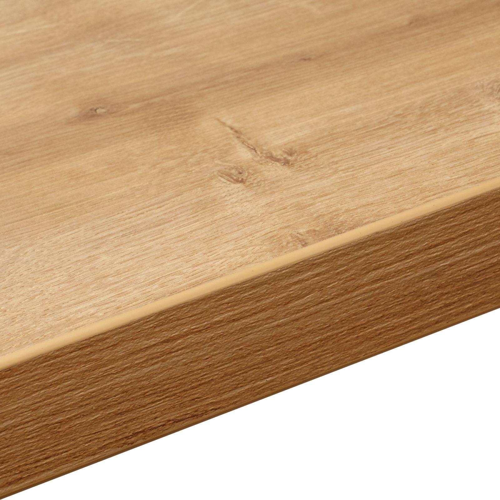 Bq Ceramic Kitchen Floor Tiles 38mm Bq Arlington Oak Square Edge Kitchen Worktop L3m D600mm