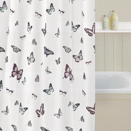 Curtains Ideas butterfly shower curtain : Butterfly Shower Curtain | Dunelm | Bathroom Rocks | Pinterest ...