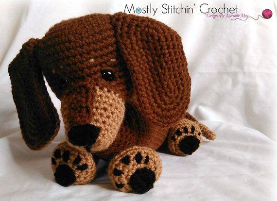 Ravelry: Dachshund Dog Amigurumi pattern by Anita Suria | 414x570