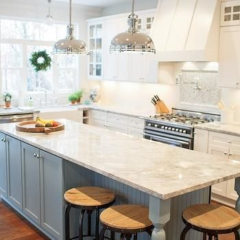 Kitchen Island With Beadboard Trim Transitional Kitchen