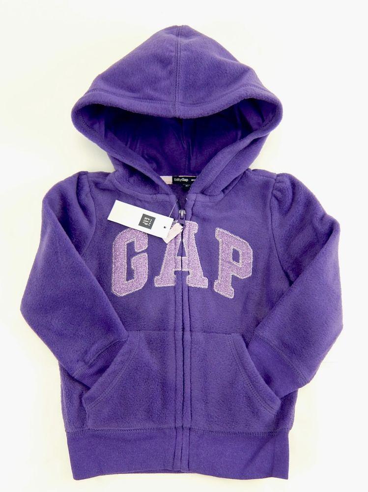 5bddc82eac1 Baby Gap Purple Logo Fleece Hoodie Jacket Zipper Front Girls Size 2T  Gap   Jacket  Everyday