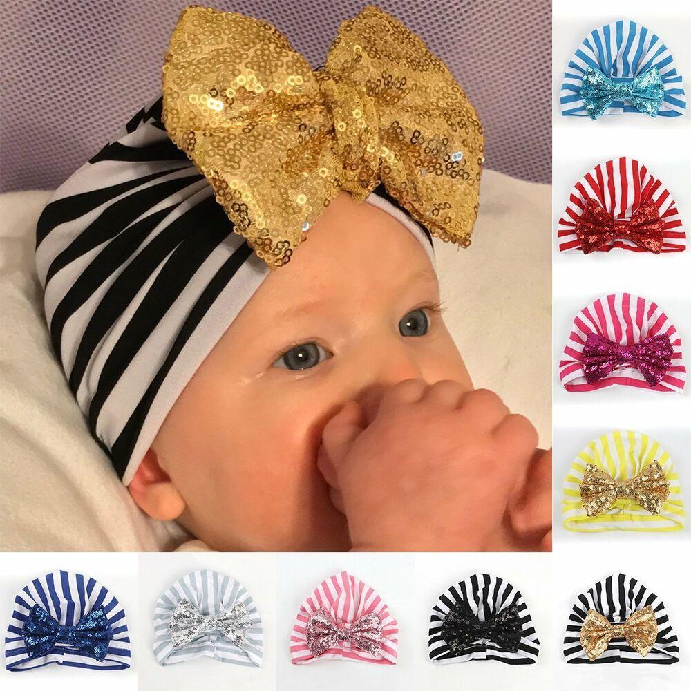 Newborn Baby Boys Girls Toddler Infant Kids Knot Hat Beanie Cap Hats Headwrap