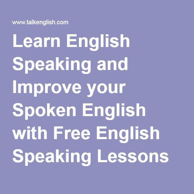 Learn English Speaking and Improve your Spoken English with