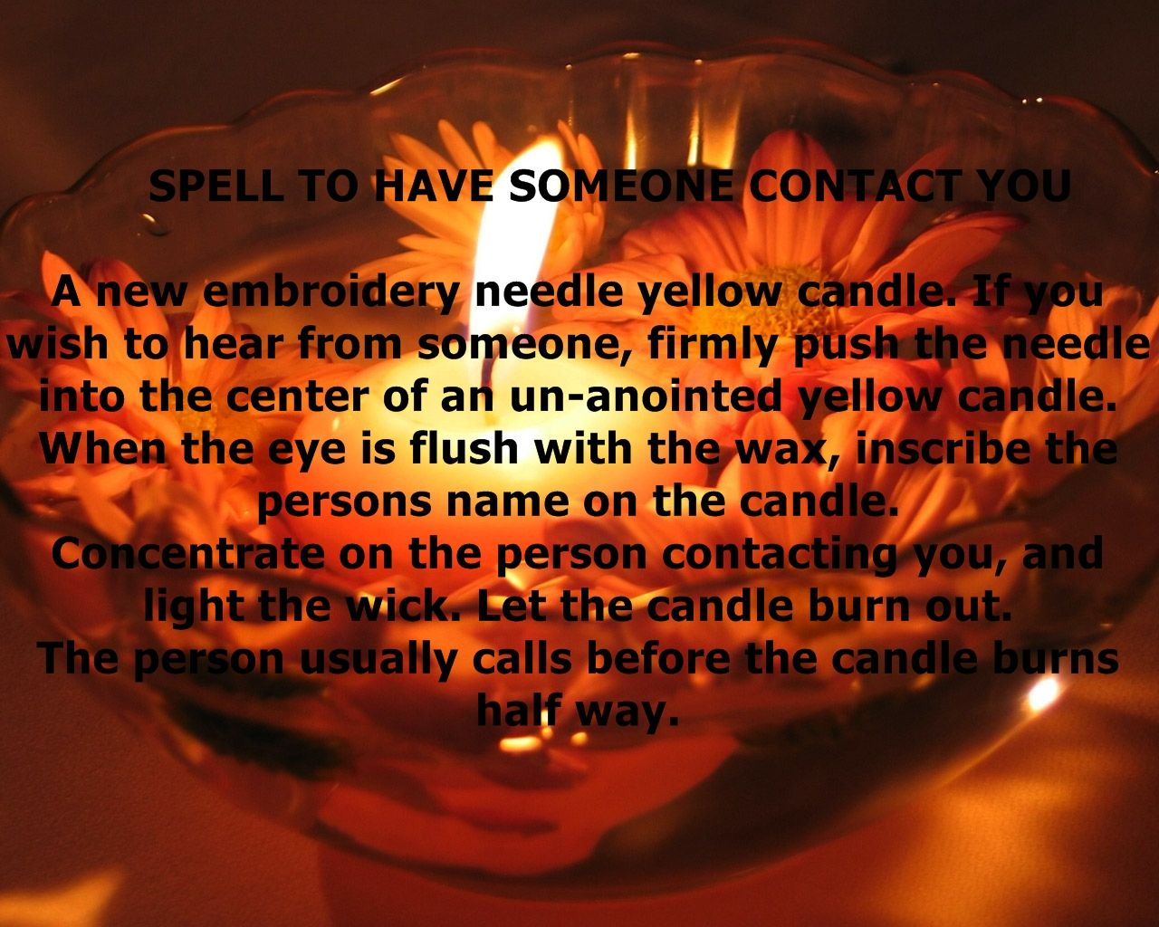 Spell to have someone contact you pagan wiccan witch shaman